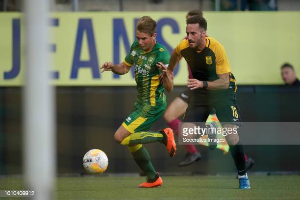 Thijmen Goppel of ADO Den Haag Alex Menendez of Aris Thessaloniki during the Club Friendly match between ADO Den Haag v Aris Saloniki at the Cars...