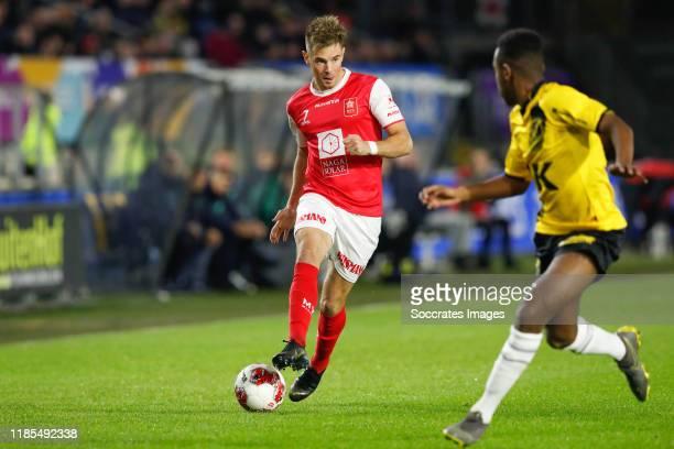 Thijmen Goppel of MVV, Jethro Mashart of NAC Breda during the Dutch Keuken Kampioen Divisie match between NAC Breda v MVV Maastricht at the Rat...