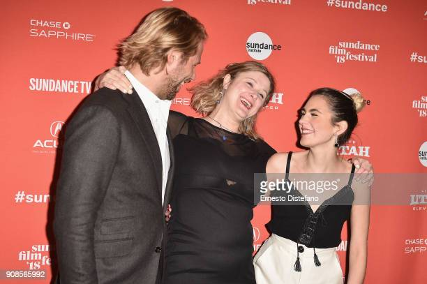 Thijs Romer Isabella Eklof and Victoria Carmen Sonne attend the Holiday Premiere during the 2018 Sundance Film Festival at Prospector Square Theatre...