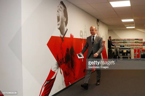 Thijs Slegers of PSV arrives during the Dutch Eredivisie match between PSV v Excelsior at the Philips Stadium on December 7 2018 in Eindhoven...