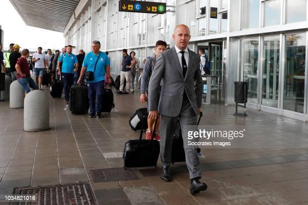 Thijs Slegers of PSV at Barcelona Airport El Prat during the Arrival PSV in Barcelona on September 17 2018