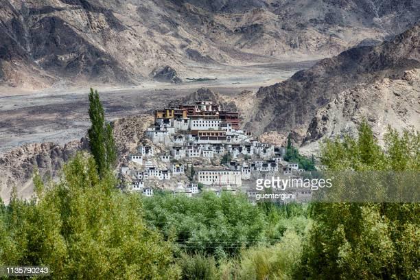 monastère de thikse près de leh, ladakh, inde - himalaya photos et images de collection