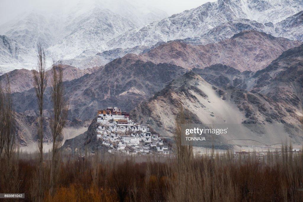 Thiksey Monastery In Winter Season India Stock Photo - Getty