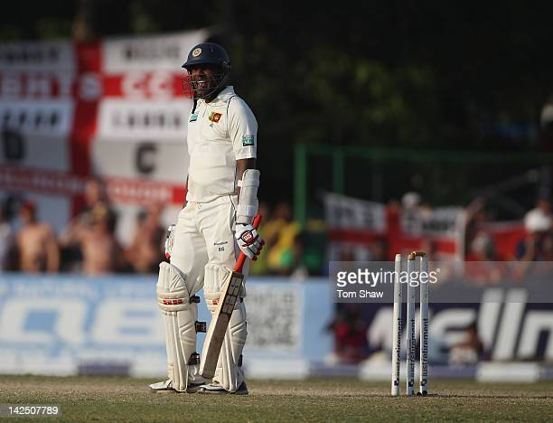 Thilan Samaraweera of Sri Lanka walks off after his dismissal during day 4 of the 2nd test match between Sri Lanka and England at the P Sara Stadium...
