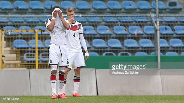 Thilo Kehrer and Lukas Klostermann of Germany during the UEFA Under19 Elite Round match between U19 Germany and U19 Slovakia at Carl-Benz-Stadium on...