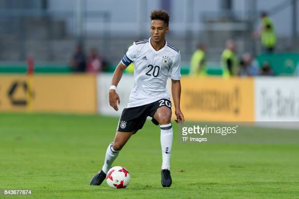 Thilo Kehrer of Germany controls the ball during the U21 UEFA 2018 EM Qualifying match between Germany and Kosovo at the Stadion Bremer Bruecken in...