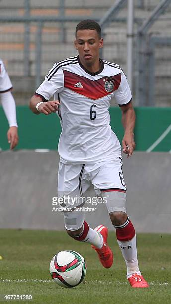 Thilo Kehrer of Germany during the UEFA Under19 Elite Round match between U19 Germany and U19 Slovakia at Carl-Benz-Stadium on March 26, 2015 in...