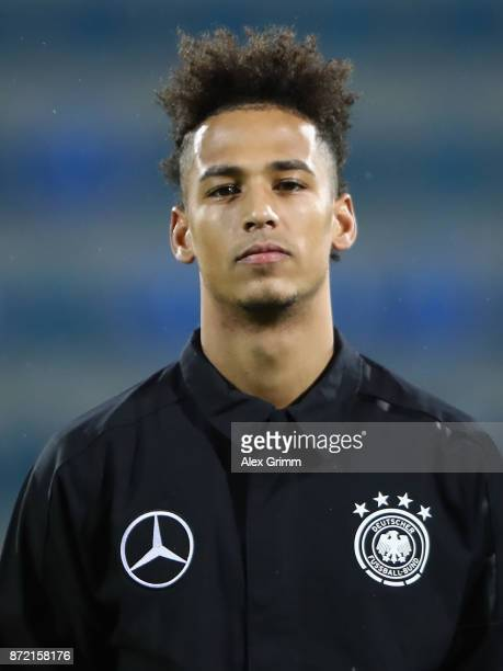 Thilo Kehrer of Germany looks on prior to the UEFA Under21 Euro 2019 Qualifier match between Azerbaijan U21 and Germany U21 at Dalga Arena on...