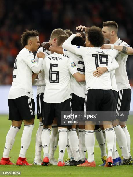 Thilo Kehrer of Germany Toni Kroos of Germany Joshua Kimmich of Germany Antonio Rudiger of Germany Serge Gnabry of Germany Leroy Sane of Germany Leon...