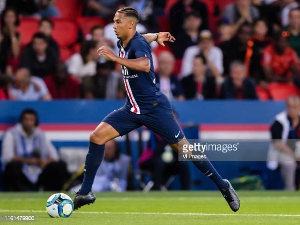 Thilo Kehrer of Paris Saint-Germain during the Ligue 1 match between Paris Saint-Germain and Nimes Olympique at Parc des Princes on August 11, 2019...
