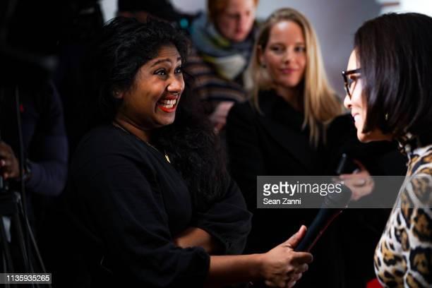 Thimali Kodikara and Alina Cho attend the Hudson Yards Grand Opening Party at Hudson Yards on March 14 2019 in New York City