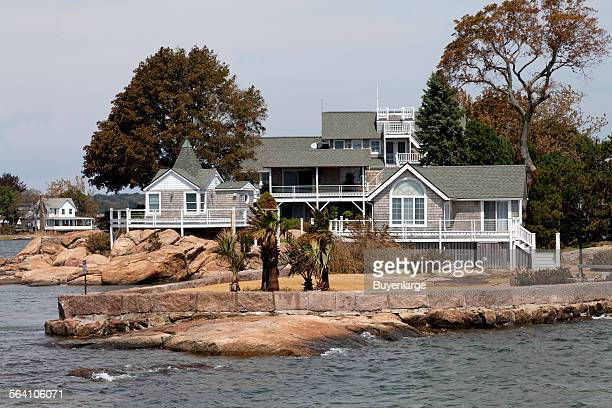 Thimble Islands archipelago in the Long Island Sound Branford Connecticut
