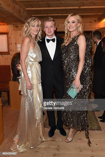 Thimoty Velo Ester Velo van Hulst and Lilly Zu Sayn Wittgenstein Berleburg attend Bulgari High Jewelry Event St Moritz on February 14 2015 in St...