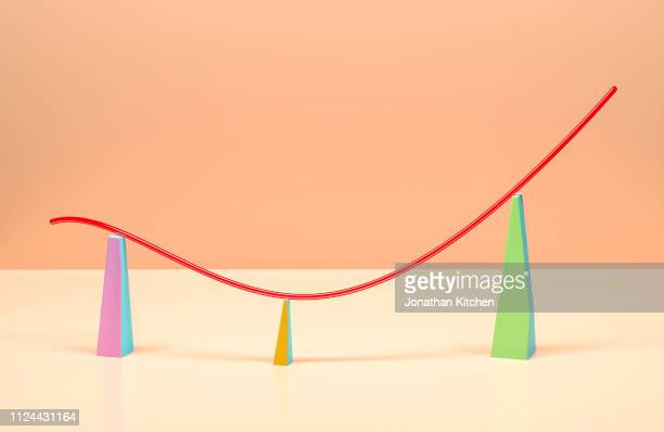 thin line graph - opkomst stockfoto's en -beelden