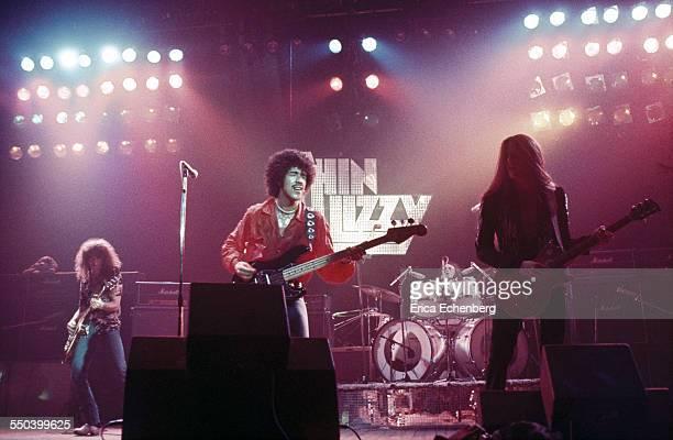 Thin Lizzy perform on stage Hammersmith Odeon London United Kingdom November 1976