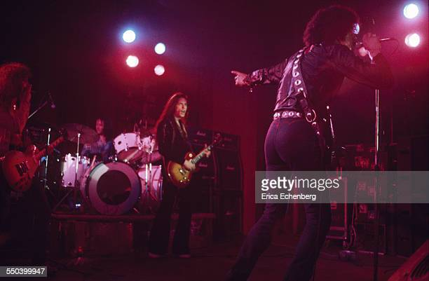 Thin Lizzy perform on stage Leeds United Kingdom December 1976