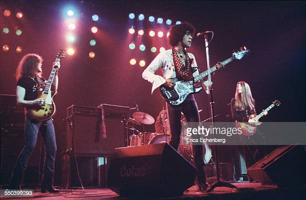 Thin Lizzy perform on stage New Victoria Theatre London United Kingdom April 1976
