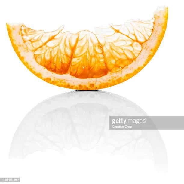 Thin slice of grapefruit