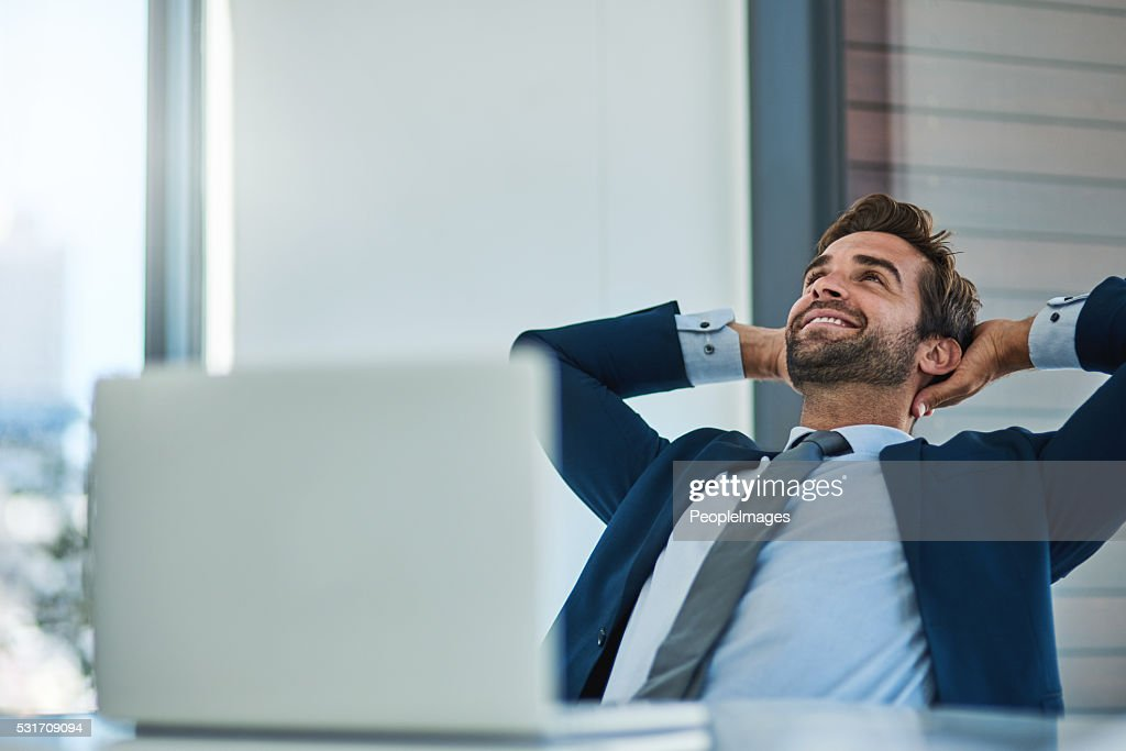 Things are finally going my way : Stock Photo