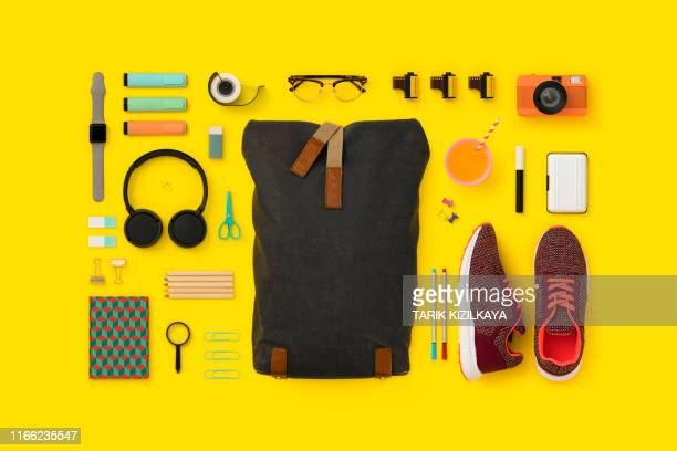 things in my bag flat lay - flat lay stock pictures, royalty-free photos & images