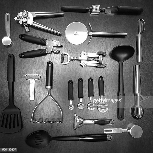 things neatly organized  - tablespoon vs teaspoon stock photos and pictures