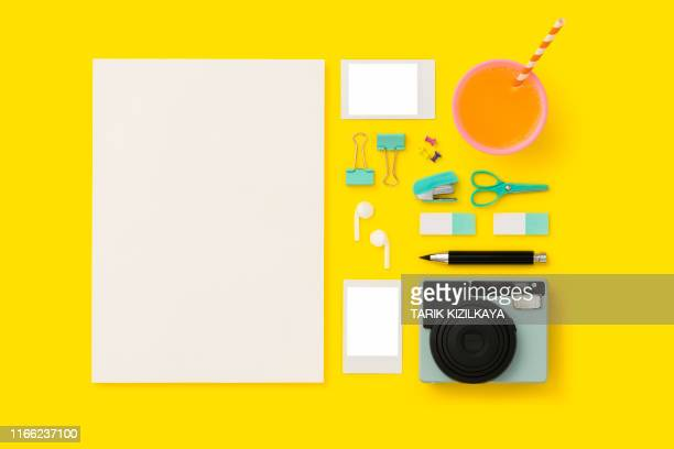 things on my desk flat lay - transfer image stock pictures, royalty-free photos & images