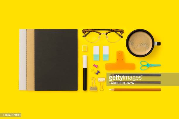 things on my desk flat lay - binder clip stock pictures, royalty-free photos & images