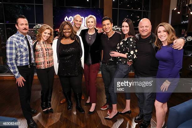 NIGHT 'Things That Go ClueBoom In The Night' Episode 203 Pictured Thomas Lennon Alyssa Milano Retta Contestant Jane Lynch Mario Lopez Paget Brewster...