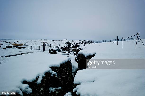 thingvellir national park, iceland. - plate tectonics stock photos and pictures