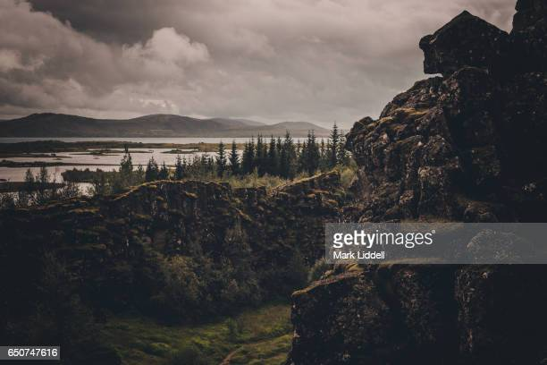 thingvellir national park in iceland - pingvellir national park stock photos and pictures