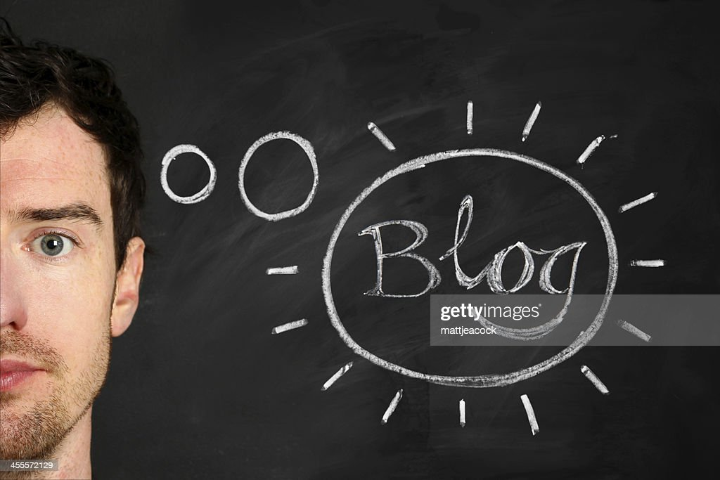 Think about Blog : Stock Photo