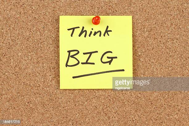 Think Big Written on Adhesive Note