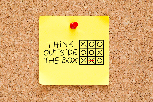 Think Outside The Box Sticky Note 475002300