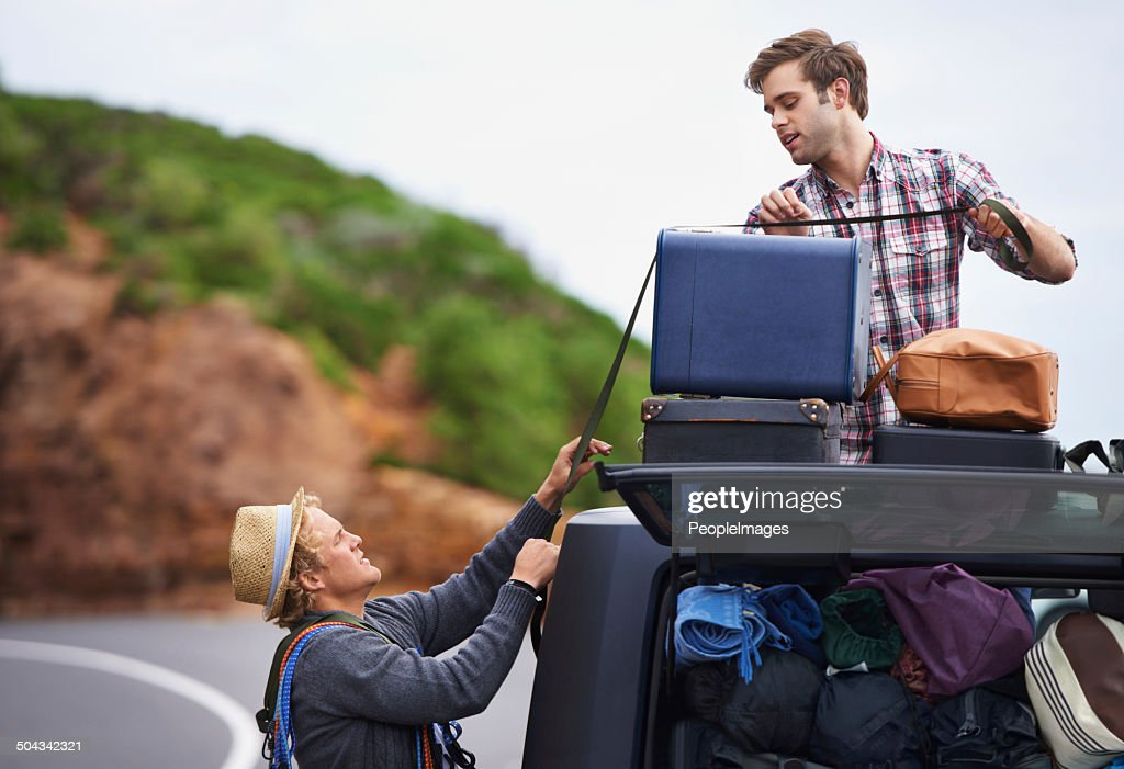 Think we brought too much? : Stock Photo