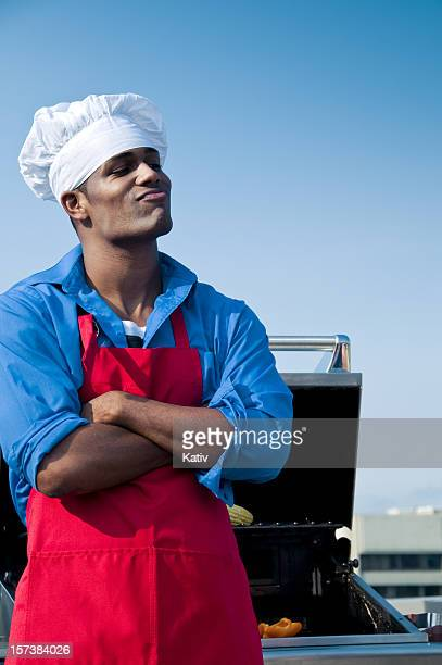 thinking chef - funny bbq stock pictures, royalty-free photos & images