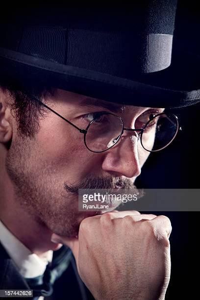 Thinking Classy Mustache Gentleman / Business Man