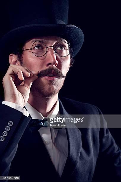 Thinking Classy Mustache Gentleman / Sherlock Holmes