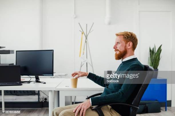 thinking of business ideas - redhead stock pictures, royalty-free photos & images
