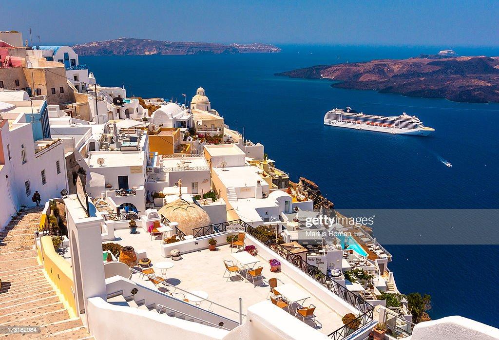 Thira - Santorini. : Stock Photo