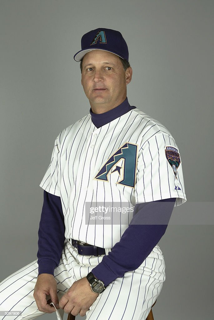 Third base coach Al Pedrique #21 of the Arizona Diamondbacks poses for a portrait during Media Day at Tucson Electric Park on February 28, 2004 in Tucson, Arizona.