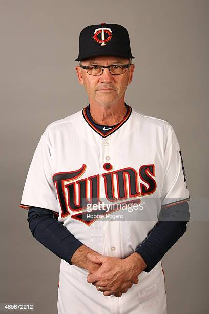 Third Base coach Gene Glynn of the Minnesota Twins poses during Photo Day on Tuesday March 3 2015 at Hammond Stadium in Fort Myers Florida