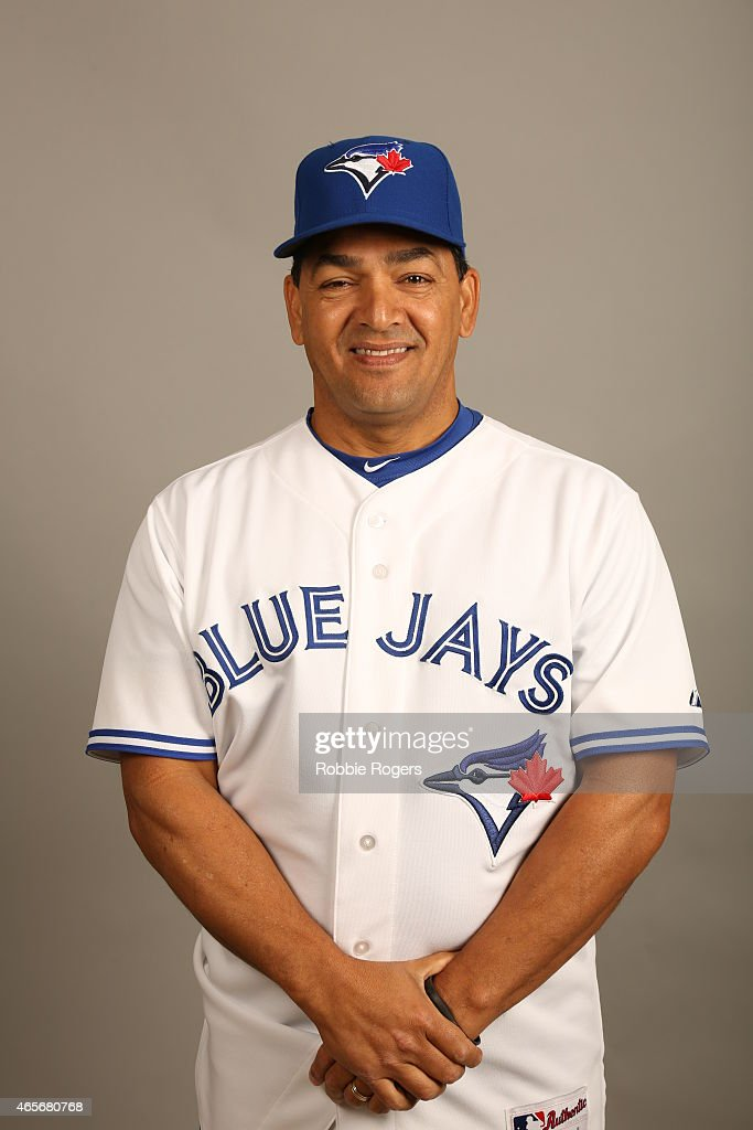 Third Base coach Luis Rivera #2 of the Toronto Blue Jays poses during Photo Day on Saturday, February 28, 2015 at Florida Auto Exchange Stadium in Dunedin, Florida.