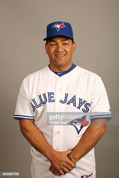 Third Base coach Luis Rivera of the Toronto Blue Jays poses during Photo Day on Saturday February 28 2015 at Florida Auto Exchange Stadium in Dunedin...
