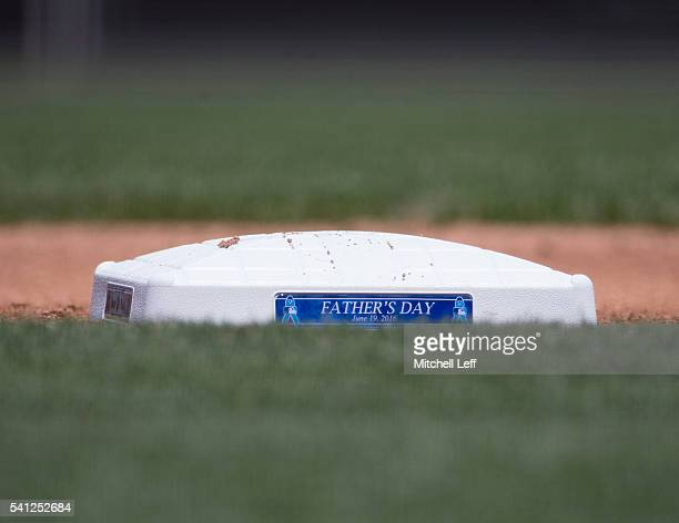 Third base during the game between the Arizona Diamondbacks and Philadelphia Phillies on Father's Day at Citizens Bank Park on June 19 2016 in...
