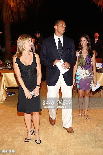 Third baseman Alex Rodriguez of the New York Yankees and wife Cynthia attend his Dewar's 12 Texas Hold 'Em Charity Poker Tournament on January 21...