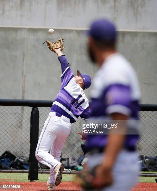 Third baseman Anthony Salomone of West Chester University makes an inning ending catch on a foul ball by Chad Crosbie of UC San Diego during the...