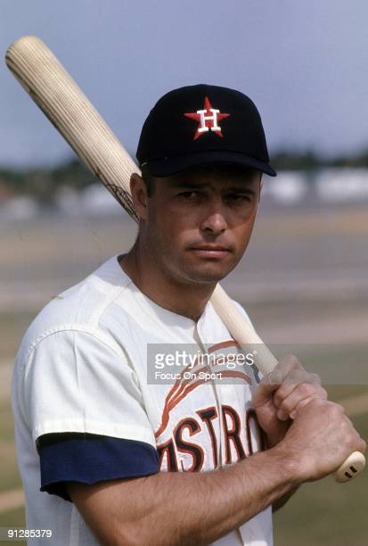Third Baseman Eddie Mathews of the Houston Astros poses for this photo during spring training basebal circa 1967 Mathews played for the Astros in 1967