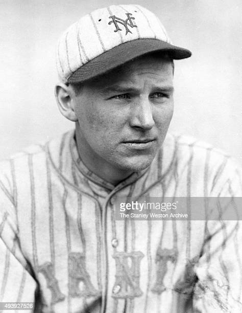 Third baseman Freddie Lindstrom of the New York Giants poses for a portrait during spring training in March 1920 in Sarasota Florida