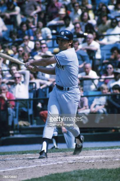 Third baseman Graig Nettles of the New York Yankees at bat during a game in 1974 against the Baltimore Orioles at Memorial Stadium in Baltimore...