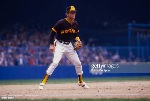 Third baseman Graig Nettles of the San Diego Padres waits for the play at third during the World Series against the Detroit Tigers at Tiger Stadium...